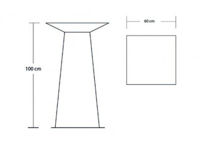 Tall Square Top Table